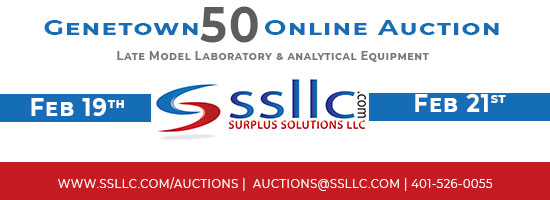 Register Now for SSLLC's Genetown 50 Online Lab & Analytical Auction. 2/19/19 - 2/21-19. Register at www.ssllc.com/auctions